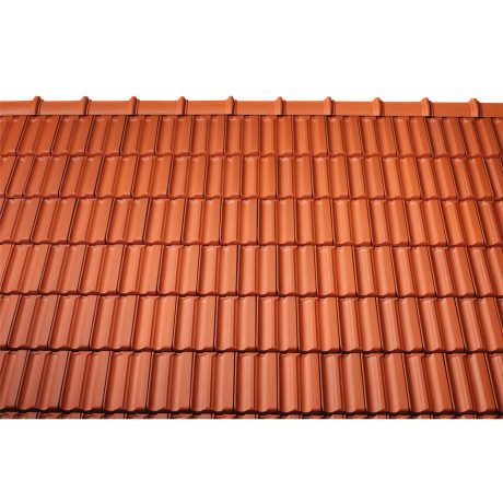 Surface image Tondach rooftile Fidelio natural red, Flächenbild Tondach Fidelio Naturrot